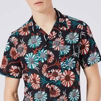 Topman sunflower-print cotton shirt