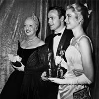 Bette Davis, Marlon Brando, and Grace Kelly, 1955