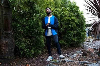 Tinie Tempah wears a selection of What We Wear, launching in April. From £65 to £400. whatwewear.com